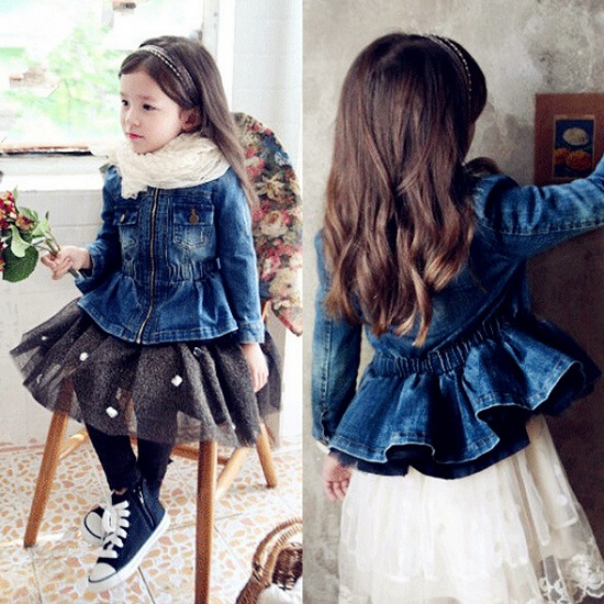 Hot Sale Turtleneck Baby Girl Jacket Fashion Waist Kids -3493