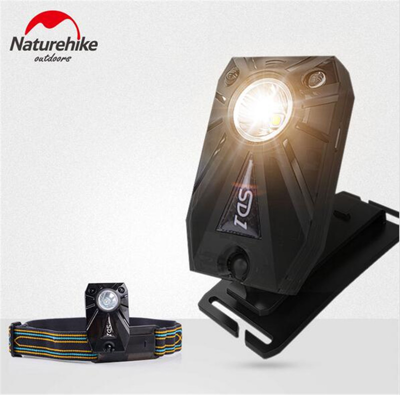 Naturehike USB Charging LED Headlamp Motion Sensor Night Fishing Cycling Running Walking Headlight 3 Modes