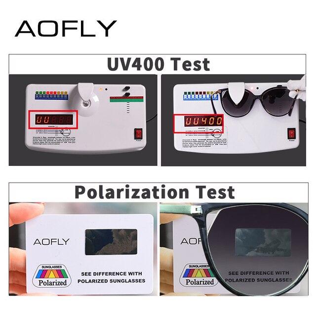AOFLY BRAND DESIGN Fashion Sunglasses 2018 Polarized Cat Eye Sun Glasses For Women Rhinestone Temple UV400 A104  4