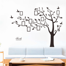 large 172*219cm family photo frame tree wall decals home decor living room pvc adhesive stickers diy mural art