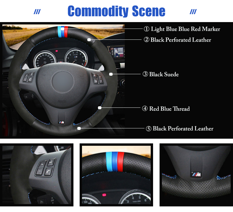 for BMW M3 2010 steering wheel cover