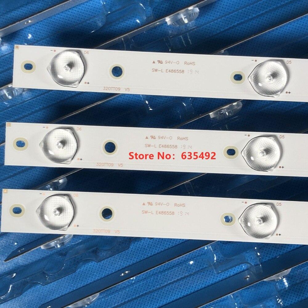 Image 4 - LED backlight for Ph ilips 32PFK4109/12 32PFL5708/F7 320TT09 V4 V5 V6 TPV TPT315B5 TPT315135 EuJFFA TPT315B5  DXJSFE REV.S1E-in LED Bar Lights from Lights & Lighting