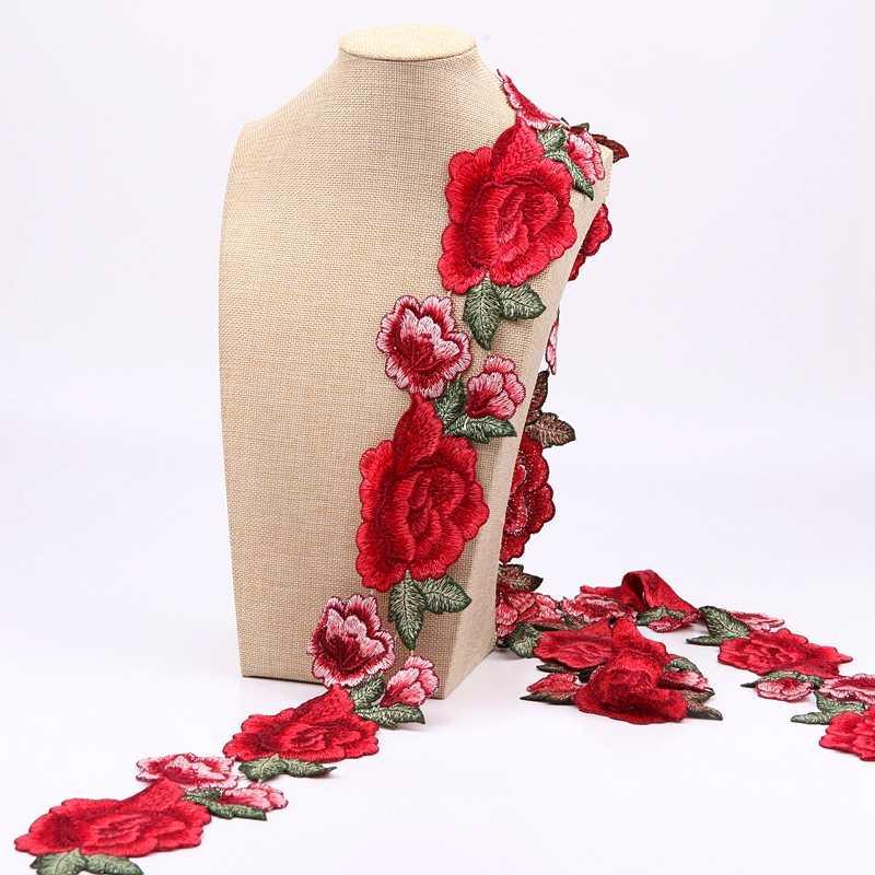 MLAEY-1 Yard yüksek kaliteli dantel Trim, narin çiçek dantel, Venise dantel kumaş kostümleri