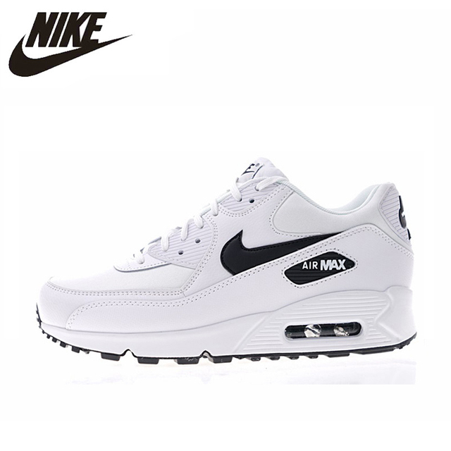 check out 27c71 0638a NIKE AIR MAX 90 ESSENTIAL Men s and Women s Running Shoes White Breathable  Shock-absorbing Lightweight