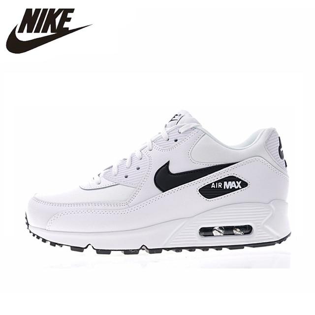 cf644527d NIKE AIR MAX 90 niezbędne dla mężczyzn i kobiet buty do biegania białe  oddychające odporne na