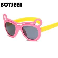 516082bc611b8 TR90 flexible niños gafas de sol polarizadas niño seguridad del bebé gafas  de sol recubrimiento UV400 gafas infantiles gafas de .