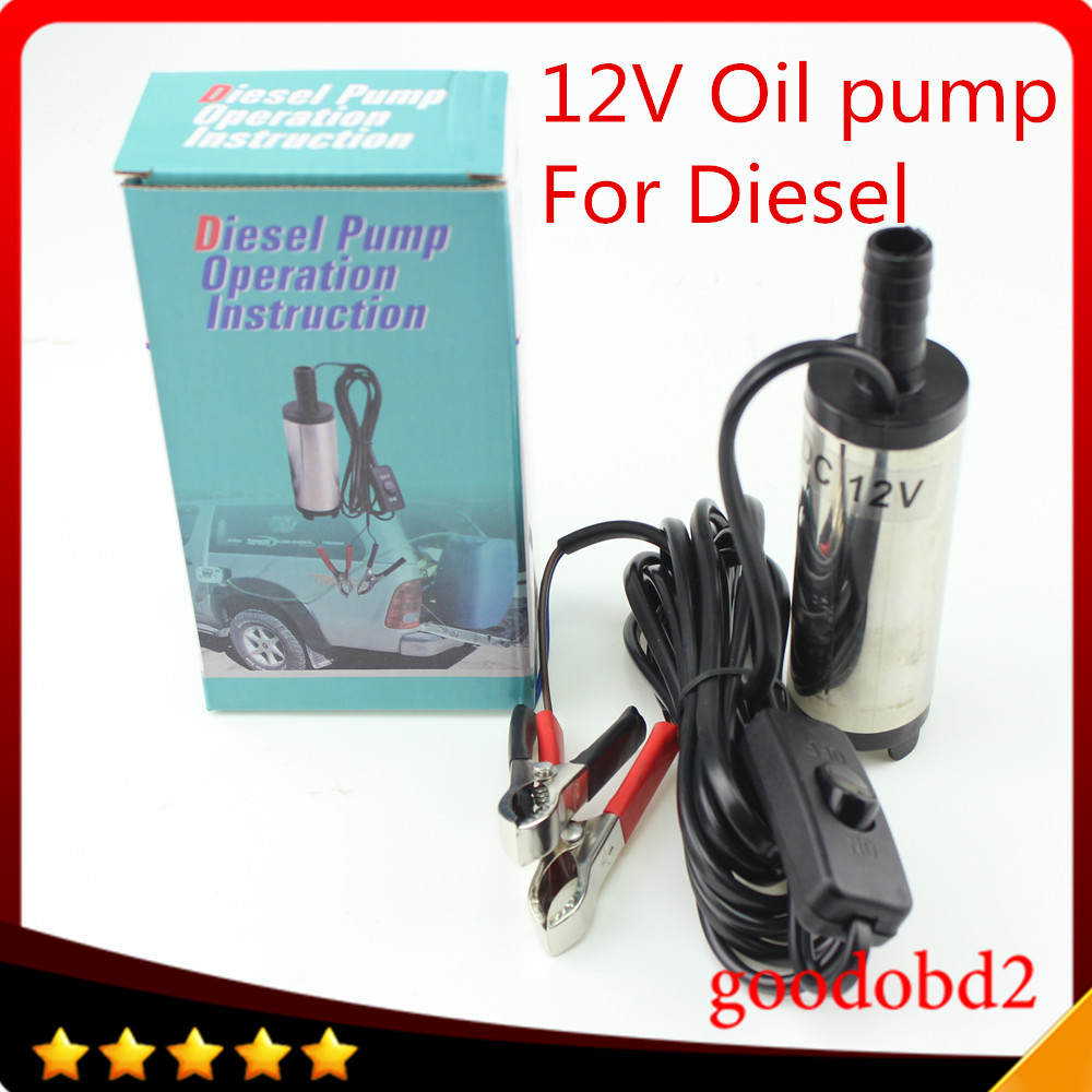 Electric pump DC12V Mini Diesel Water Oil Fuel Transfer Pump Truck Boat Submersible Stainless 38mm Car Camping oil pump