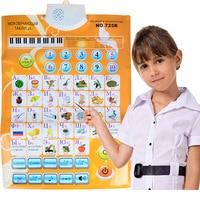 Trẻ em Ký Tự Tiếng Nga Sound Tường Chart ABC Ngôn Ngữ Alphabet Số Flipchart Lật Biểu Đồ, Học Tập sớm & Giáo Dục Máy