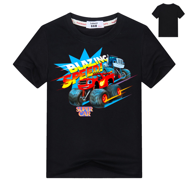 Fashion Baby Boys tshirt Children t shirts Blouses Kids Blazing Tops Cartoon Car Print Clothing Infants Costume Party Shirt 2