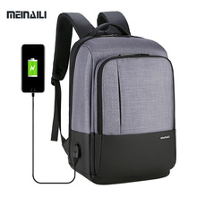 USB Charging Business Backpack 15.6 Inch Laptop Backpacks Waterproof Notebook Multifunction Travel Bagpack College Bag For Men