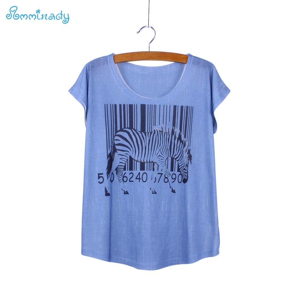 Buy fashion zebra code print women top for Best t shirts for summer