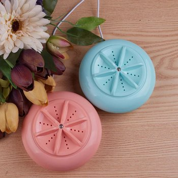 Portable Ultrasonic Turbo Automatic Electric Roller Mini Washing Machine Quick Clean Washing Tool for Outdoor Travel