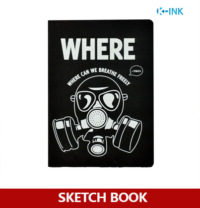128 Sheets B6 Black Hard Cover Sketch Book , White and Kraft Blank Inside Page Sketchbook for drawing maurini w16011889771 page 6
