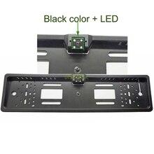 Беспроводной ПЗС провод светодиодов HD Цвет ЕС Европейский автомобиль лицензии камера заднего вида знака Рамка парковочная камера ночного видения водонепроницаемый