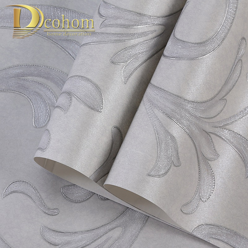 European Metallic Textured Classic Floral Stripe Wallpaper Roll Wall Paper Home Decoration Bedroom Living Room Wallcovering
