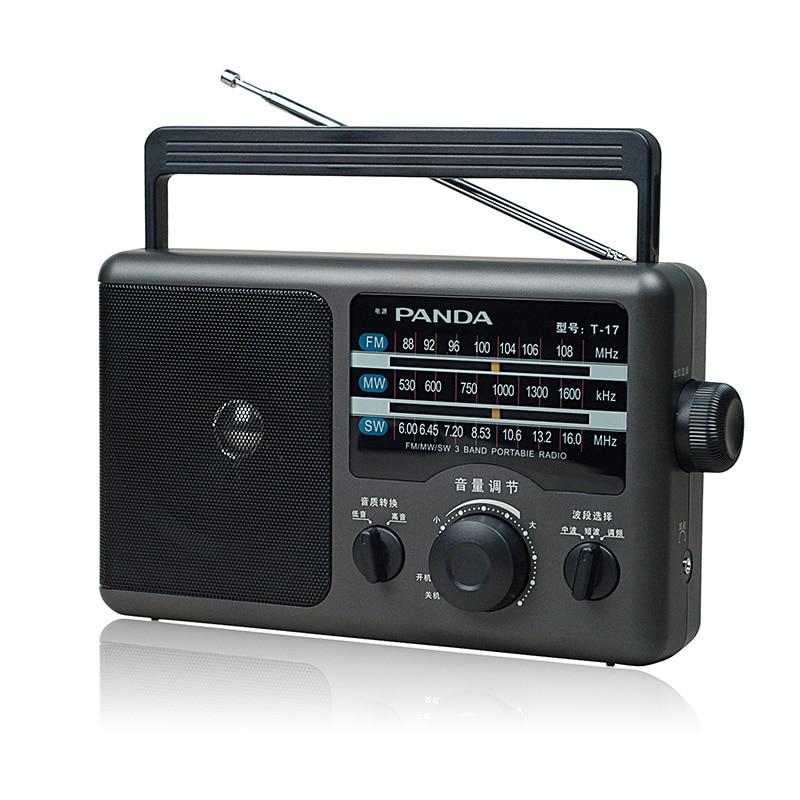 Панда Т-17 портативный трех полосный аналоговый тюнер радио с большим объемом
