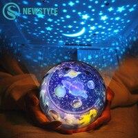Планета Magic проектор ночник земли Вселенная светодиодные лампы Красочные Ротари мигающий Звездное небо Проектор для маленьких детей Рожде...