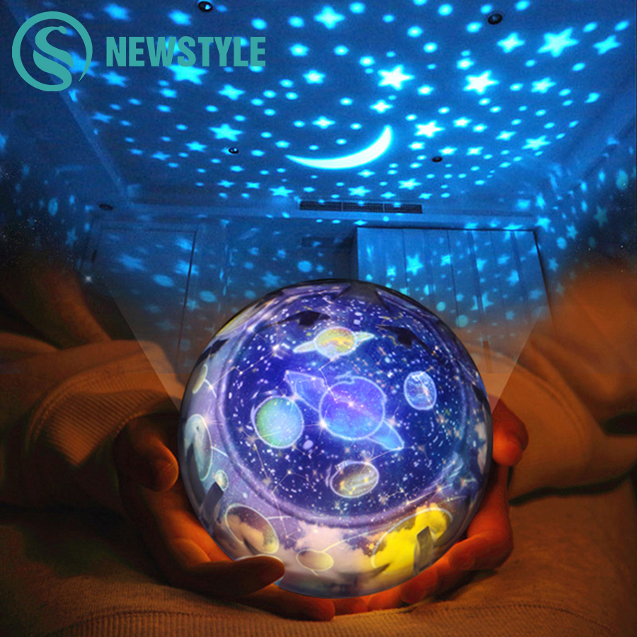 Planet Magic Projector Night Light Earth Universe LED Lamp Colorful Rotary Flashing Starry Sky Projector Kid Baby Christmas Gift