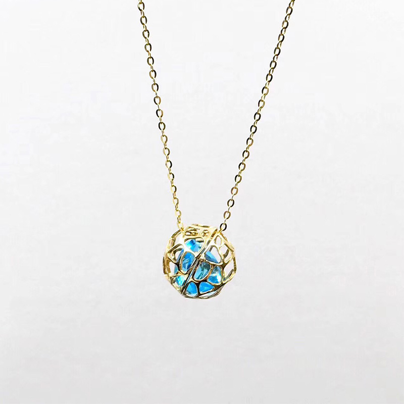 ANI 18K Yellow Gold (AU750) Wedding Topaz Pendant Necklace Heart Shape Natural Blue Topaz Certificate Women Chain Necklace ani 18k white gold au750 wedding heart shape pendant 0 228 ct i j si certificate real natural diamond women chain necklace