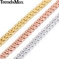 Trendsmax 7mm rose gold filled collar de cadena de moda para mujer para hombre del caracol del acoplamiento de cadena unisex venta a granel joyería gn326