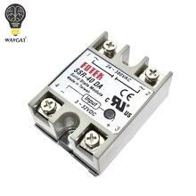 WAVGAT 솔리드 스테이트 릴레이 SSR 10DA SSR 25DA SSR 40DA 10A 25A 40A 실제로 3 32V DC 24 380V AC SSR 10DA 25DA 40DA