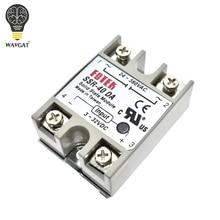 WAVGAT твердотельные реле SSR 10DA SSR 25DA SSR 40DA 10A 25A 40A на самом деле 3 32 В постоянного тока в переменный 24 380V AC SSR 10DA 25DA 40DA