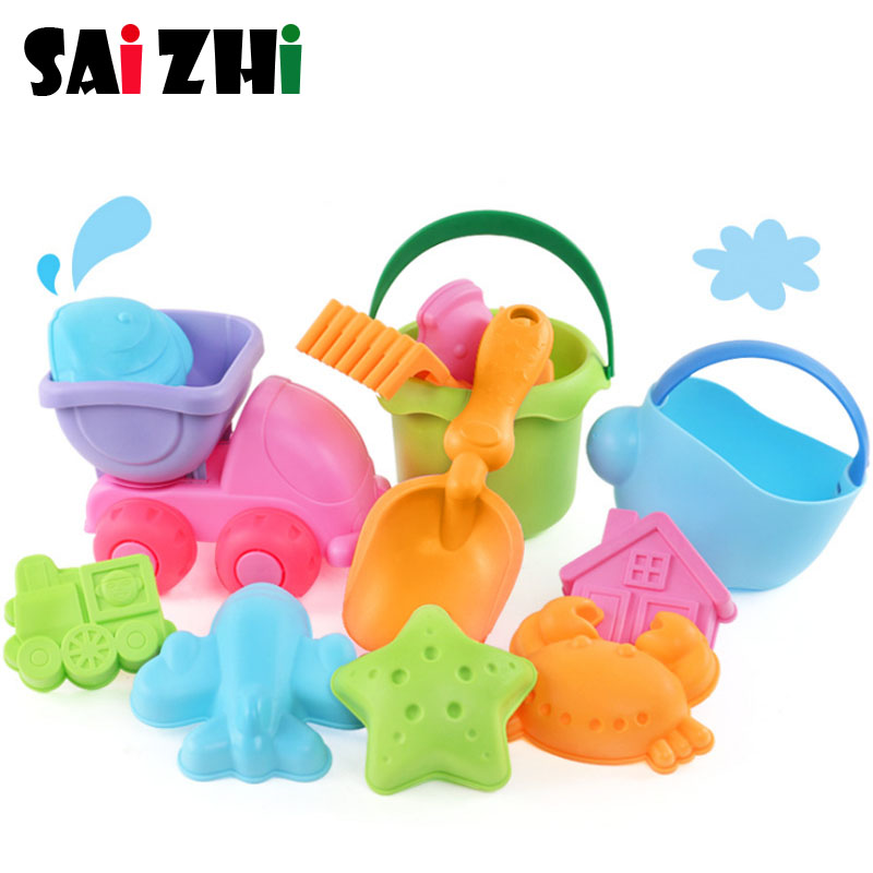 Toys & Hobbies Saizhi 13pcs Kids Sand Water Summer Beach Children Toy Set Bucket Spade Shovel Rake Water Tool Beach Toys Sz1303 Comfortable Feel