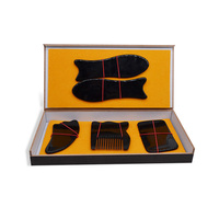 Natural buffalo angle scraping board black horn set (5 sets) face full body scraping board scraping comb
