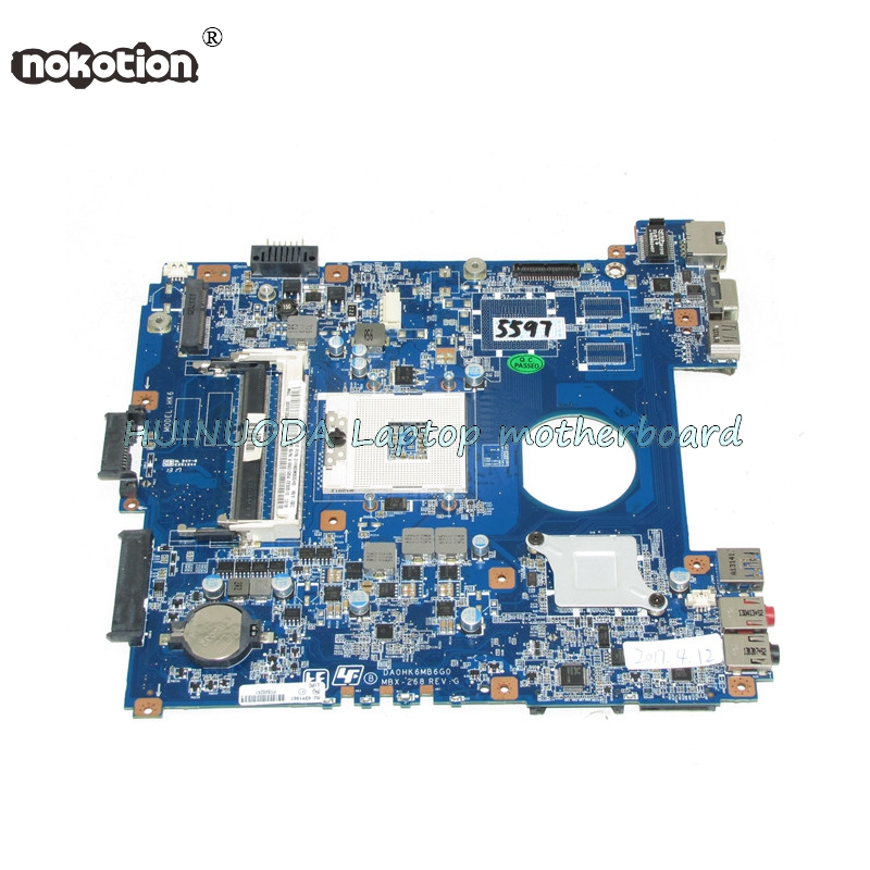 NOKOTION A1893195A DA0HK6MB6G0 MBX-268 for SVE141D11L Laptop Motherboard Mainboard s989 HM76 DDR3 GMA HD nokotion sps v000198120 for toshiba satellite a500 a505 motherboard intel gm45 ddr2 6050a2323101 mb a01