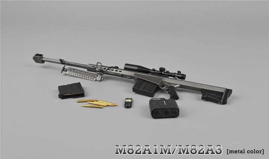 1/6 металлический Цвет снайперская винтовка пистолет модели Barrett M82A1 SASR оружие Модель для детей возрастом от 12 дюймов Солдат Рисунок аксессуар