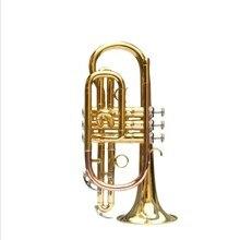 Профессиональный Bb плоский cornet латунный инструмент с чехлом перчатки