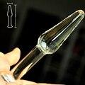 Тонкий pyrex стекло батт anal plug кристалл бисера дилдо влагалище мужской пенис женский мастурбатор взрослый продукт секс-игрушки для женщины мужчины гей