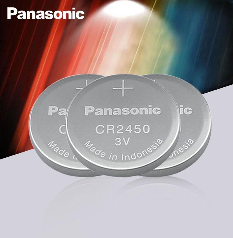 3 шт., Литиевые кнопочные батарейки Panasonic CR2450 CR 2450 3 в
