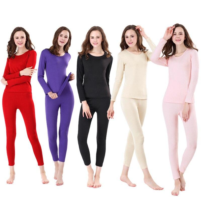 roupa interior termica femea fino secao alem de veludo corpo base base xl outono pijama em