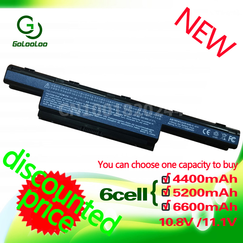 Golooloo 6 cell v3-571G v3-771G <font><b>Battery</b></font> for <font><b>Acer</b></font> <font><b>Aspire</b></font> AS10D31 AS10D81 AS10D51 AS10D71 AS10D75 4741G AS10D41 4741 <font><b>5750G</b></font> AS10D61 image