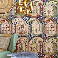 Bohemian national wallpaper study bar cafe creative Brick pattern wall sticker pvc material waterproof decoratiot