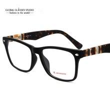 Ручная работа ацетатные оправы для очков Модные женские мужские новые дизайнерские черные очки CMG7068
