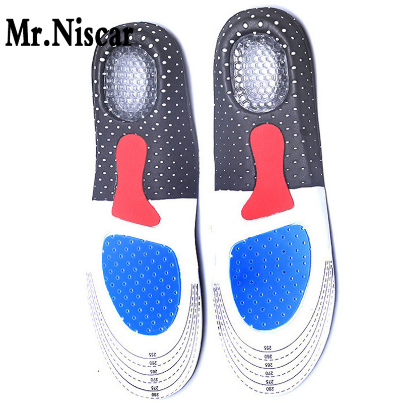 Mr.Niscar Men and Women EVA Gel Insoles Foot Care for Plantar Fasciitis Heel Spur Running Sport Insoles Shock Absorption Pads bocan gel insoles for spur plantar