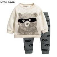 Little Maven Children S Clothing Sets Autumn Boys Cotton Brand Long Sleeve Glasses Bear Print T