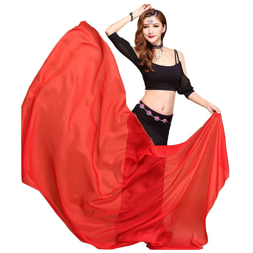 Belly Dance Accessories Scarf Shawl Light Texture Rectangle Veils Professional Women Belly Dance Chiffon Veil (250cm X 120cm)