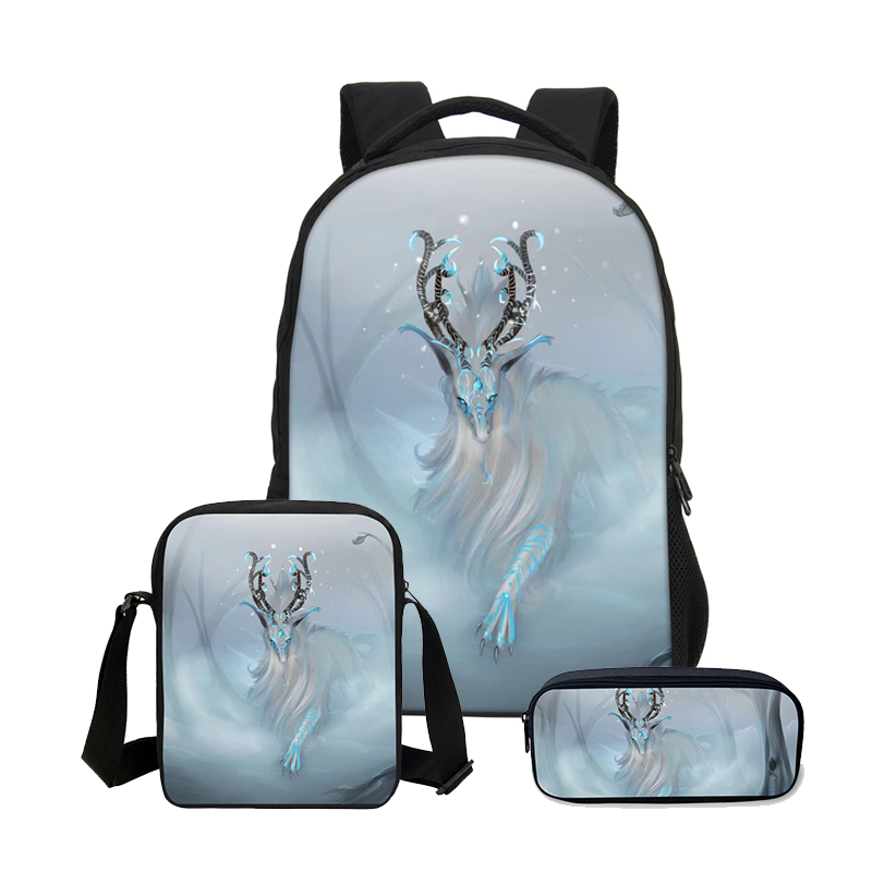 5d78440f5dcb Hynes Eagle 3 PCS SET 3D Animal Bookbag Children Backpacks Men Cool Lion Printing  Backpack School Bag Fashion Boys Shoulder Bag