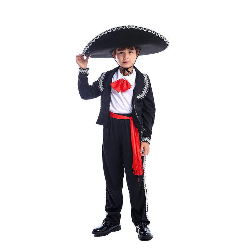 Traditional Mexican Mariachi Amigo Dancer Child Boys Festival And Parties Costume