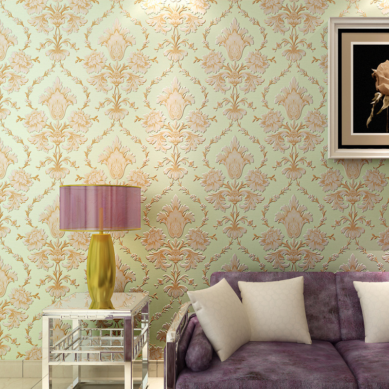 European Style Non Woven Wallpaper Manufacturers 3d Living Room Warm