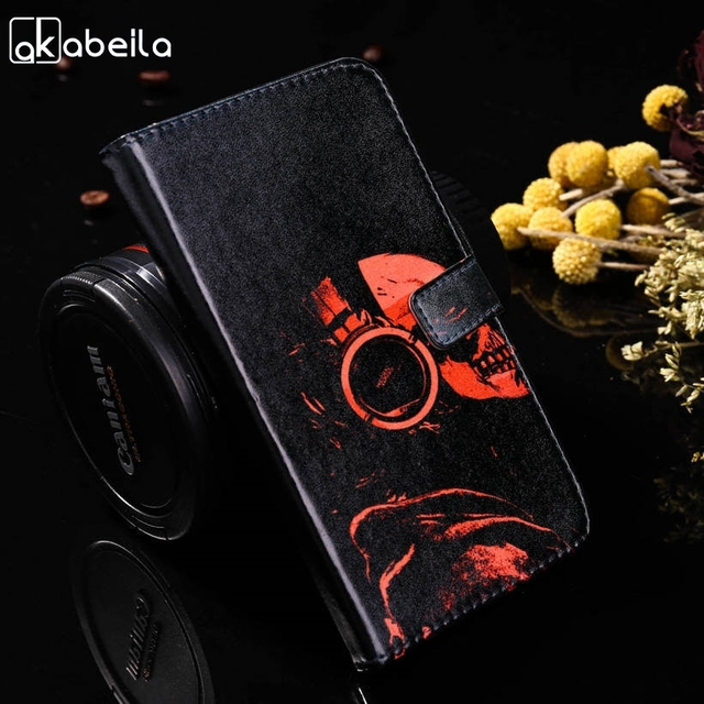 AKABEILA Flip Cases For Samsung Galaxy J7 Prime On7 2016 On Nxt G610F G610F/DS G610M Phone Case Painted Wallet Card Holder Cover