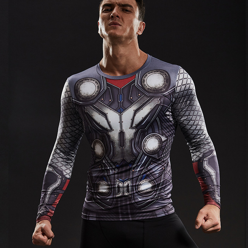 09da3879 Men THOR 3D Black Panther Pattern T shirts Long Sleeve Tops Tees for Male  Fitness Bodybuilding Clothing Funny THOR Cosplay Wear-in T-Shirts from Men's  ...