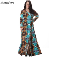d52f4b40628 6XL 7XL Plus Size New Style Women Elegant Casual Sexy V Neck Long Sleeve  Summer Dress