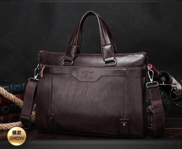 ZYJ Men\`s Business Leather Shoulder Laptop Briefcase Bags Sling Travel Messenger Portfolio Bag Causal Bolsa Lawer Handbag (12)