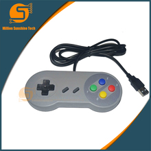 2 ШТ. 1 лот Ретро Проводной Super Nintendo для SNES USB контроллер Игры Joypad Джойстик для ПК Windows 7/8/10 Геймпад Для Mac