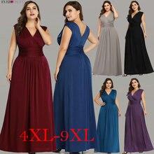 Женское длинное вечернее платье Ever Pretty, элегантное темно синее шифоновое платье трапеция с V образным вырезом, без рукавов, для торжественных случаев и свадеб, EZ07661, лето 2019