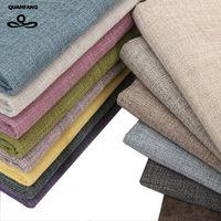 QUANFANG однотонная хлопковая льняная ткань для лоскутного шитья/DIY шитья/дивана скатерти/мебельная крышка ткани/подушки метр
